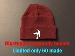 Big Steppin Beanie Hat - Burgundy - limited edition