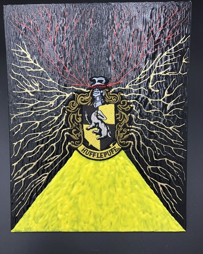 Harry Potter Patch Art By Aaron Goodwin 1/1 Painting Panel Canvas Size Is 8x10