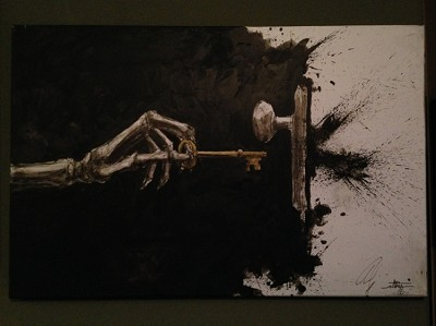 The Skeleton Key Opens - canvas print