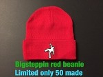 Big Steppin Beanie Hat - Red - limited edition