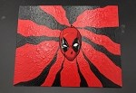 Deadpool Patch Art By Aaron Goodwin 1/1 Painting Panel Canvas Size Is 8x10