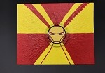 Ironman Marvel Art By Aaron Goodwin 1/1 Painting Panel Canvas Size Is 8x10