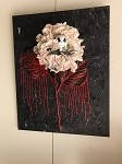 Jack Skelington Flower Art - Red 16x20